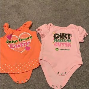 John Deere Girls 6-9 month onesies
